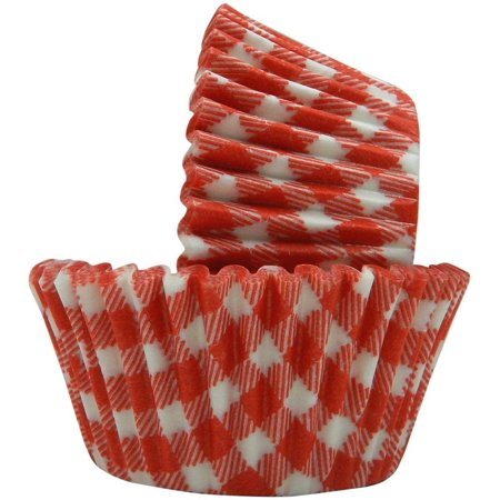 Red Gingham Baking Cupcake Liners - 50 Count - National Cake Supply](Valentine Baking Supplies)