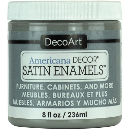 Decoart Americana Decor Satin Enamels 8oz SmokGrey Decoart Americana Acrylic Paints