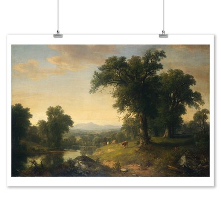A Pastoral Scene - Masterpiece Classic - Artist: Asher Brown Durand c. 1858 (9x12 Art Print, Wall Decor Travel Poster)