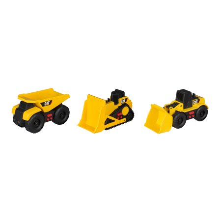 Caterpillar Mini Mover Lights and Sounds 2 Pack Dump Truck, Wheel Loader and