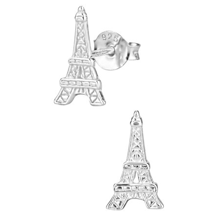 Hypoallergenic Sterling Silver Eiffel Tower Stud Earrings For Kids Nickel Free