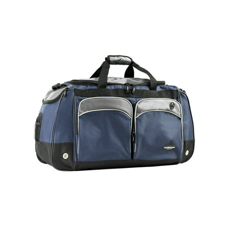 "Travelers Club 28"" Jumbo Multi-Pocket Duffel - Blue 1"
