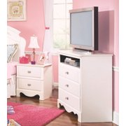 Standard Furniture Spring Rose 36 Inch TV Chest in White