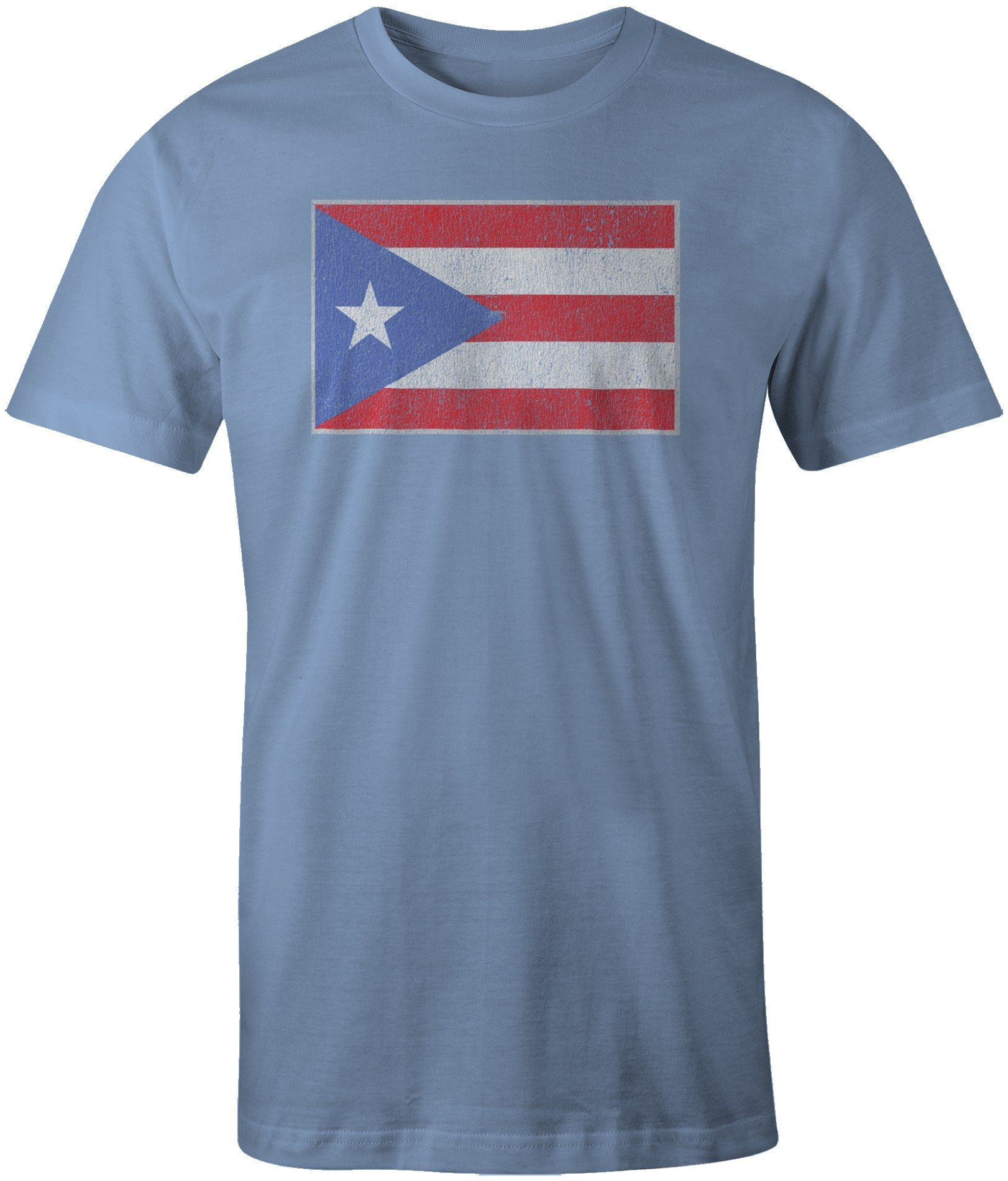 Little Boys Puerto Rico Flag ComfortSoft Long Sleeve Shirt