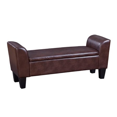 Outstanding Chloe Faux Leather Storage Bench Squirreltailoven Fun Painted Chair Ideas Images Squirreltailovenorg