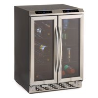 Avanti FRENCH DOOR 19 BOTTLE WINE CHILLER/BEVERAGE COOLER / GLASS DOORS W/STAINLESS STEEL FRAME & HANDLE / TOP MOUNTED DIGITAL SOFT TOUCH CONTROL & DISPLAY