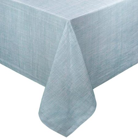 Restaurant Quality Chambray Vinyl Table Cloth With Soft