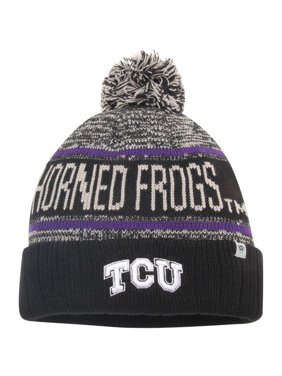 online retailer 2a211 4ca7d Product Image men s top of the world black tcu horned frogs acid rain  cuffed pom knit hat