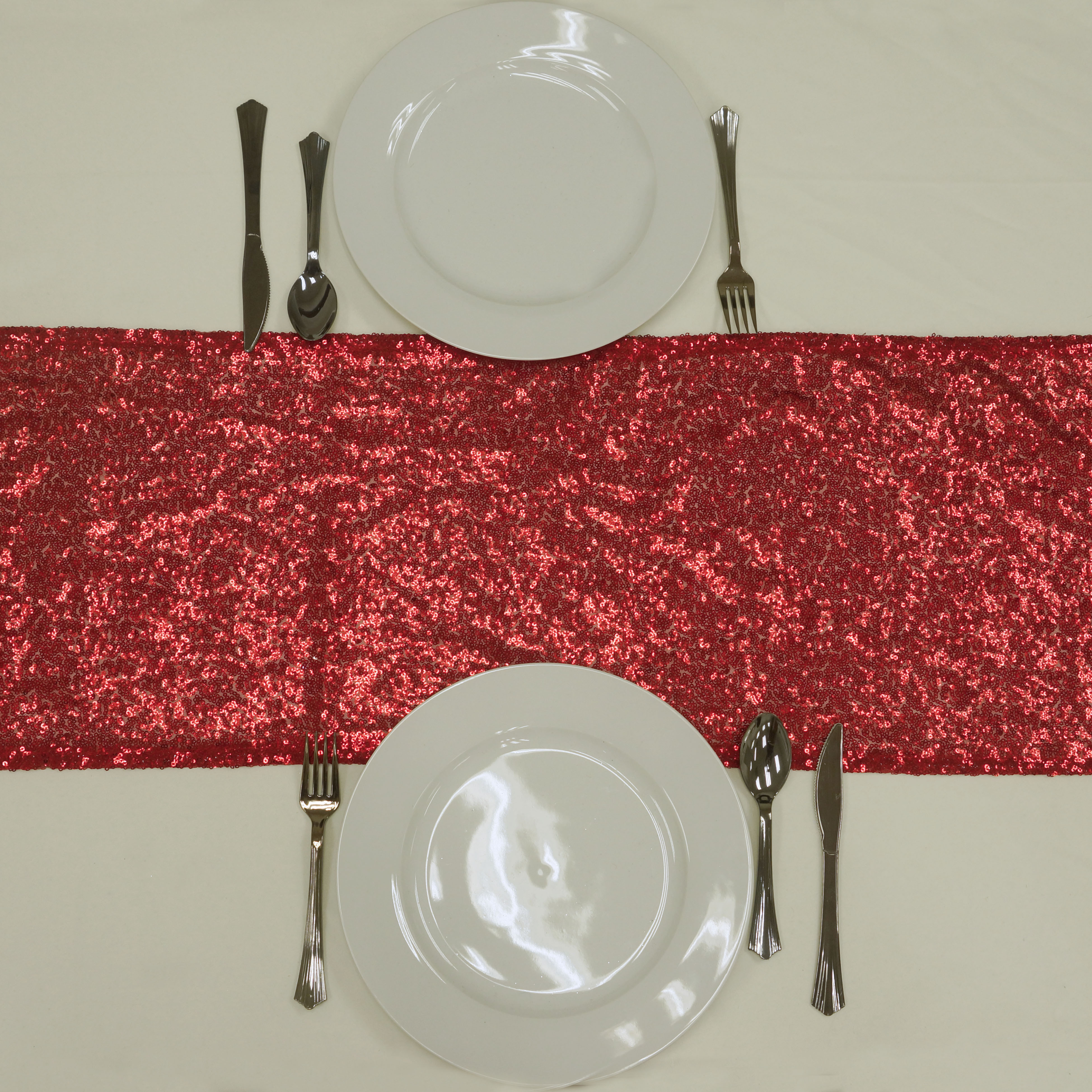 "12"" x 108"" Sequined Table Runners Wedding Party Catering Reception Decorations"