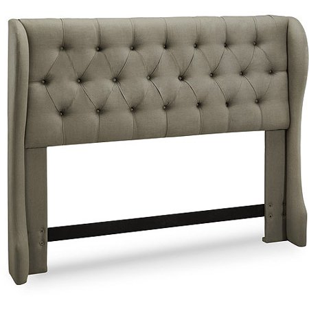 York Tufted Wing Upholstered Headboard, Multiple Colors and Sizes Cotton Duck Upholstered Headboard
