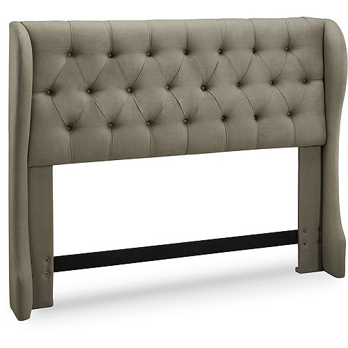 York Tufted Wing Upholstered Headboard, Multiple Sizes and Colors
