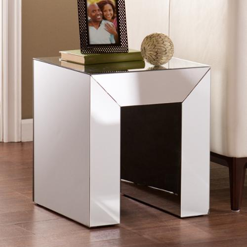 Harper Blvd  Chastain Silver Mirrored Accent Table