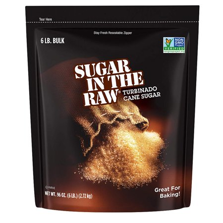 - Turbinado Cane Sugar, Made Using 100% Natural Pure Cane Sugar, 6 lbs (Exp. 2019 or later), Gluten free By Sugar in the Raw