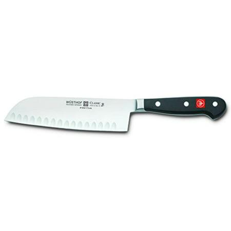 - Wusthof 4183-7 Wusthof Classic 7-Inch Santoku Knife, Hollow Edge