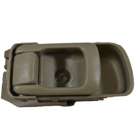 PT Auto Warehouse NI-2544E3-LH - Inner Interior Inside Door Handle, Beige/Tan (Olive) - Driver Side