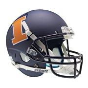 Illinois Fighting Illini Schutt XP Full Size Replica Helmet - Matte Navy Alternative Helmet 1