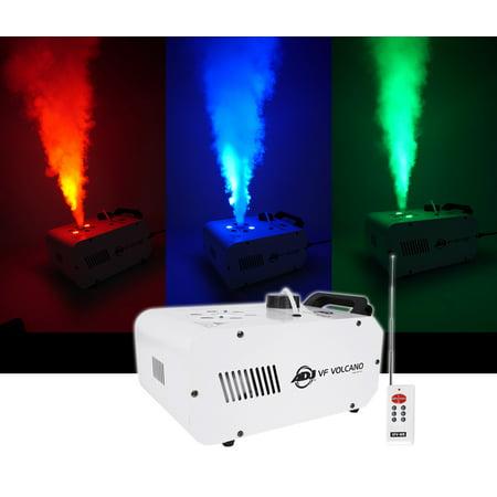 American Dj Adj Vertical Fog Smoke Machine W  Leds  Pyro Effect  Color Mixing