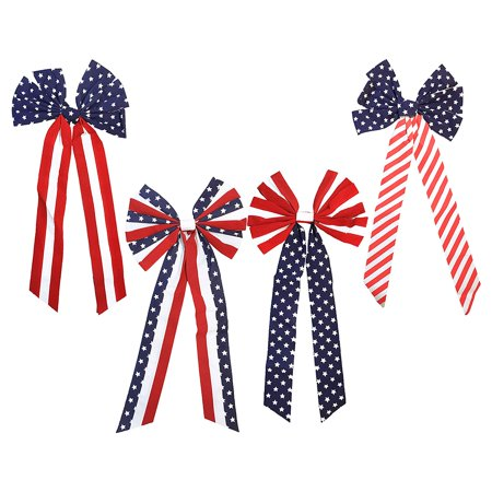 Patriotic Duck (Set of 4 American Flag Patriotic Fourth of July Memorial Day Red White and Blue Striped Stars 26