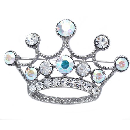 Princess Queen Royal Crown Tiara Brooch Pin Women Ladies Fashion Jewelry