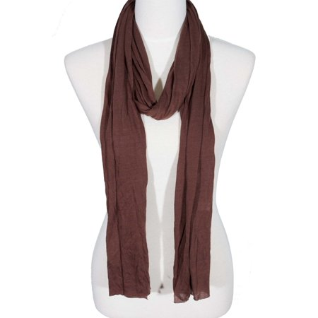 Zodaca Fashion Lightweight Soft Plain Solid Color Casual Scarf One Size for Women Ladies