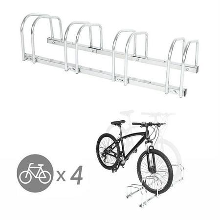 Yosoo 4 Racks Steel Bike Bicycle Floor Parking Stand Storage Rack Holder, Bike Floor Parking Rack,Bike Floor