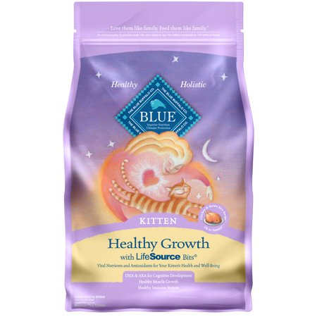 Blue Buffalo Healthy Growth Dry Kitten Food, Chicken & Brown Rice Recipe, 7-lb ()