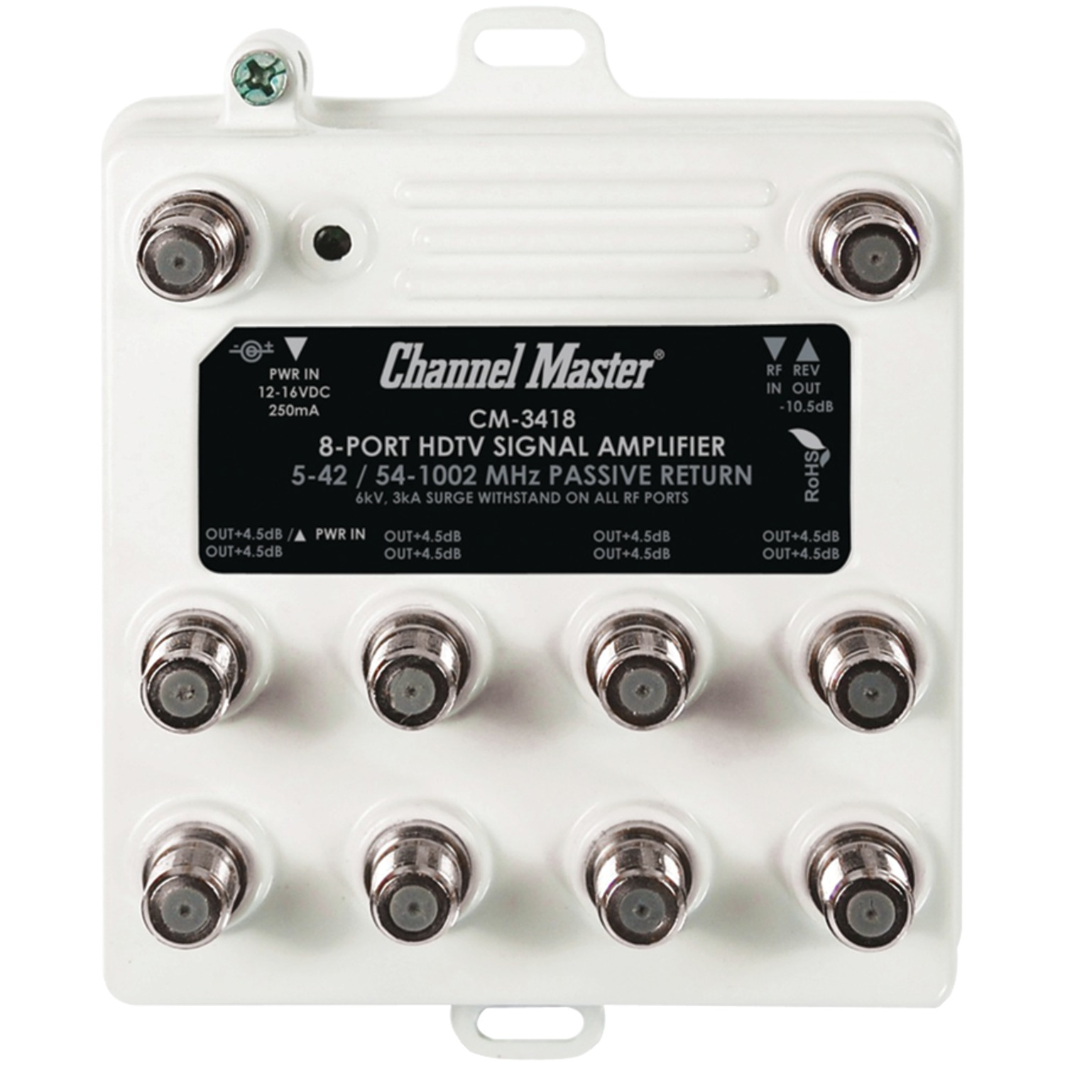 Channel Master Cm-3418 Ultra Mini Distribution Amp (8 Port)