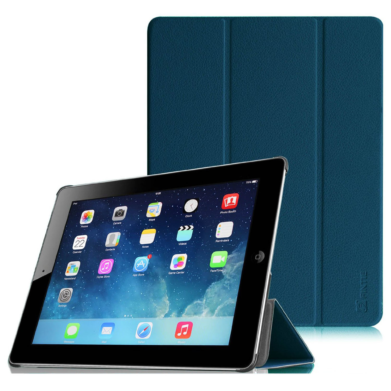 Fintie SmartShell Case for Apple iPad 4th Generation with Retina Display, iPad 3 & iPad 2, Navy