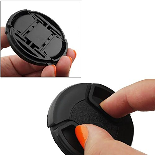eCostConnection 67mm Pro Series 5 Snap On Lens Caps and 5 Lens Cap Keepers For Canon, Nikon, Pentax, Fujifilm, Sony, Panasonic, Olympus & More Models - image 2 de 4