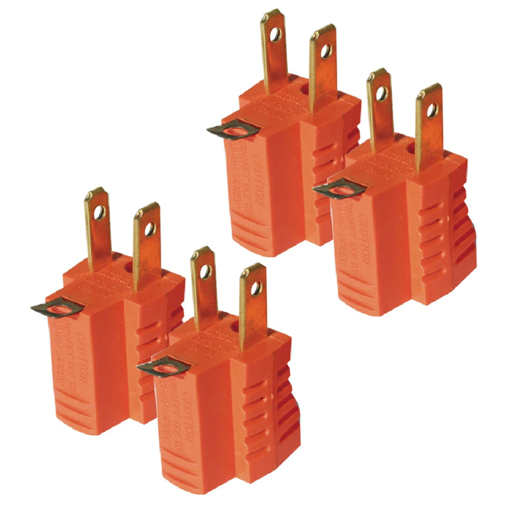 4 X Grounding Adapter 3 to 2 Prong AC Power Outlet Tap Plug UL Listed Grounded
