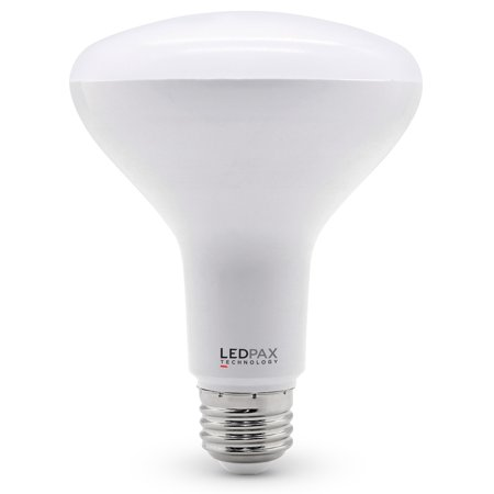 LEDPAX BR30 Dimmable LED Bulb, 9W (65W equivalent), 4000K, 650 Lumens, CRI 80, 1 Pack, UL, ES Certified, 4 Count