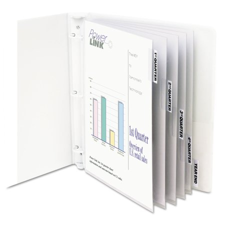 Sheet Protectors with Index Tabs, Heavy, Clear Tabs, 2