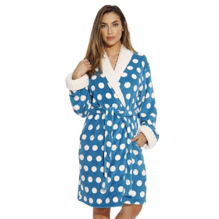 c9ccbab6a853 Just Love - Just Love Polka Dot Kimono Robe   Bath Robes for Women ( Turquoise