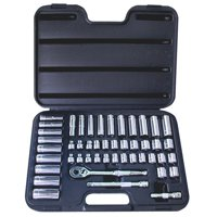 """ATD Tools 3/8"""" Drive 12-Point 47-Piece SAE and Metric Pro Socket Set 1247"""