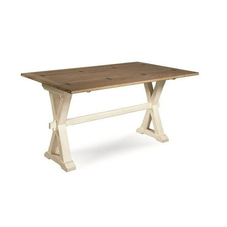 Drop Leaf Console (Bowery Hill Drop Leaf Console Table in Terrace Gray and Washed Linen )