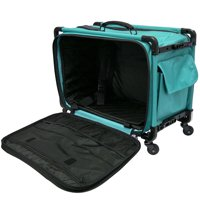 """Tutto 22"""" Large Sewing Machine Bag on Wheels (Turquoise)"""