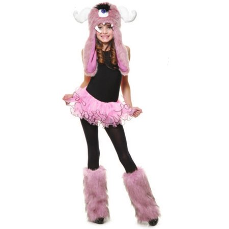 Child Girls Pink White Anime Cartoon Monster Furry Leg Warmers](Anime Child Girl)
