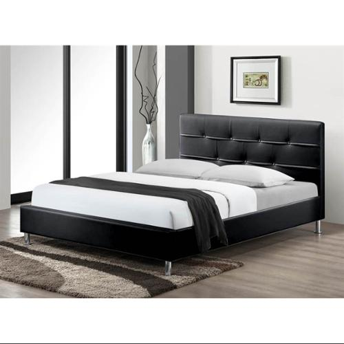 Contemporary Platform Bed in Black (Queen: 87 in. L x 63 in. W x 37 in. H (99 lbs.))