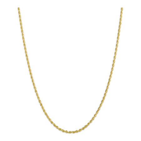 10k Yellow Gold 2.75mm D/C Quadruple Rope Chain - image 5 of 5