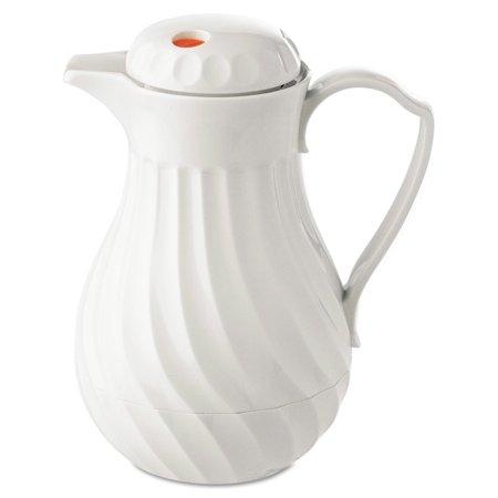 Hormel Poly Lined Carafe  Swirl Design  40Oz Capacity  White