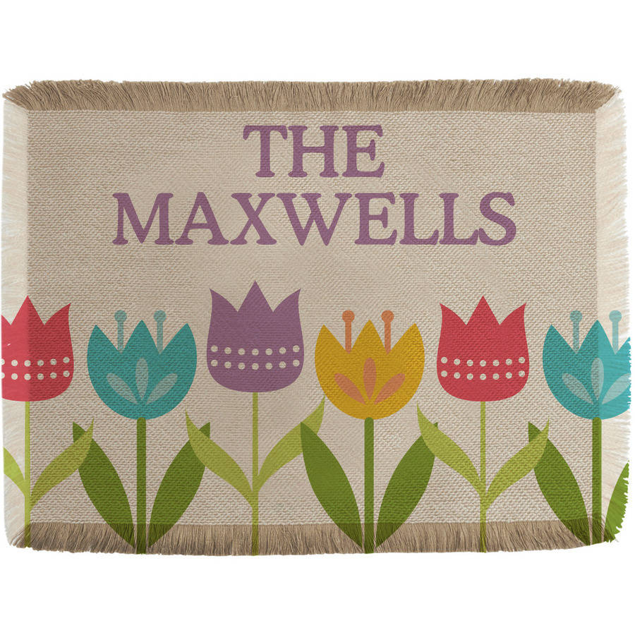 Personalized Spring Tulip Placemat