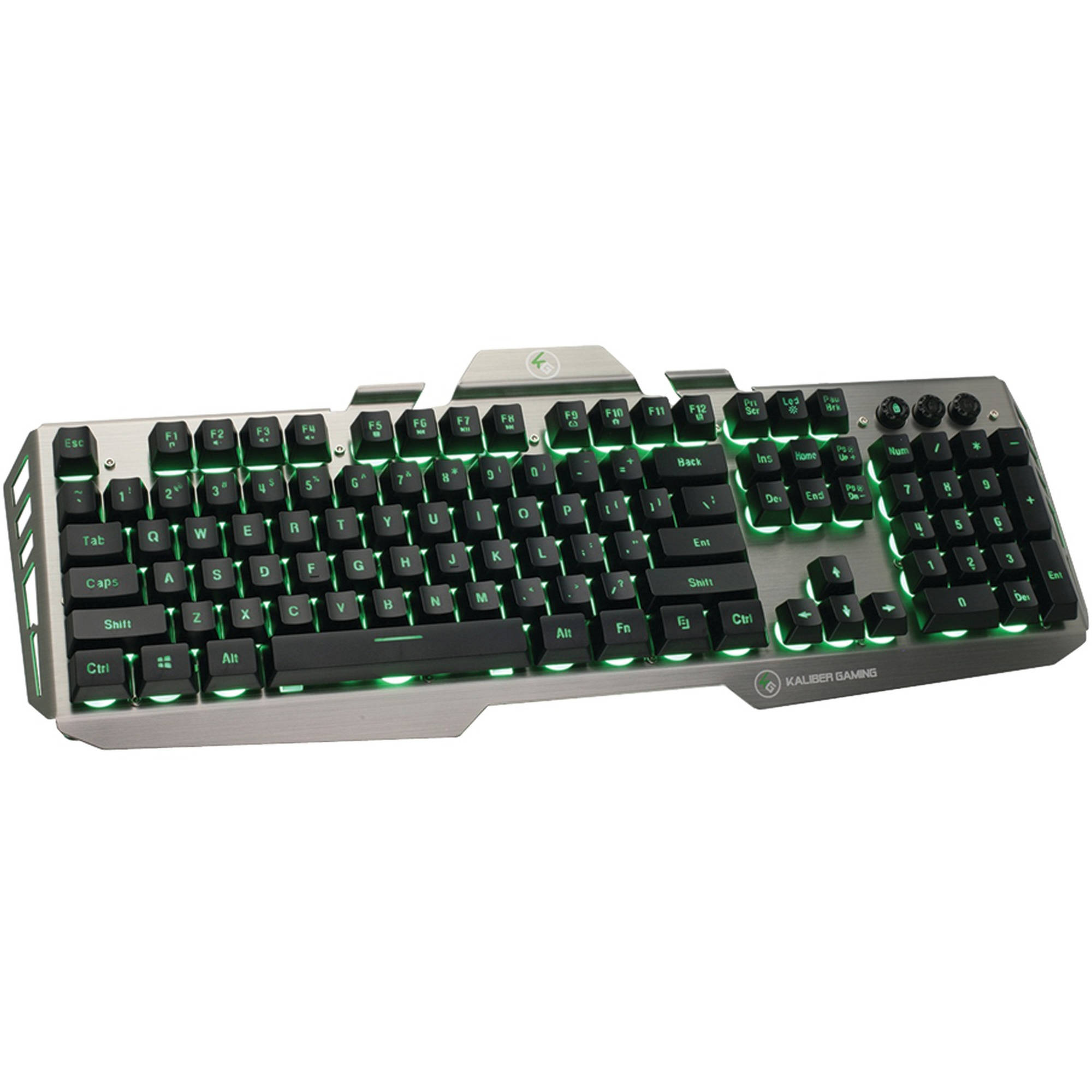 IOGear Kaliber Gaming HVER Aluminum Gaming Keyboard, Black/Gray