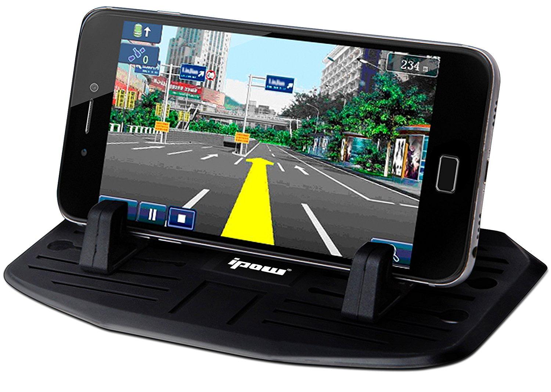 IPOW Universal Cell Phone Car Silicone Dash Pad Anti-slip Mat ...