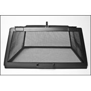 """30"""" x 30"""" Square Carbon Steel Fire Pit Screen with Hinged Access Door"""