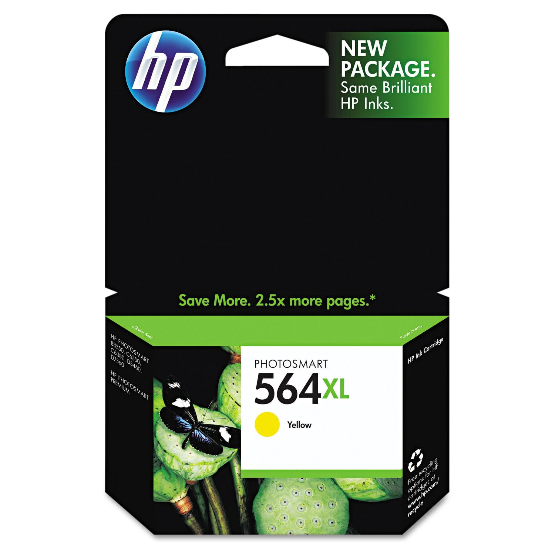 HP 564XL, (CB325WN) High Yield Yellow Original Ink Cartridge