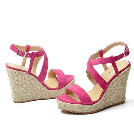 Fashion Sandals Girls Summer Soft Bottom Shoes Rope Weaved High Heels Sandal Walmart Canada