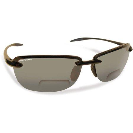 Flying Fisherman Cali Polarized Sunglasses, Black Frame, Smoke Lens ...