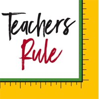 Paper Cocktail Napkin, 20 count, Teachers Rule