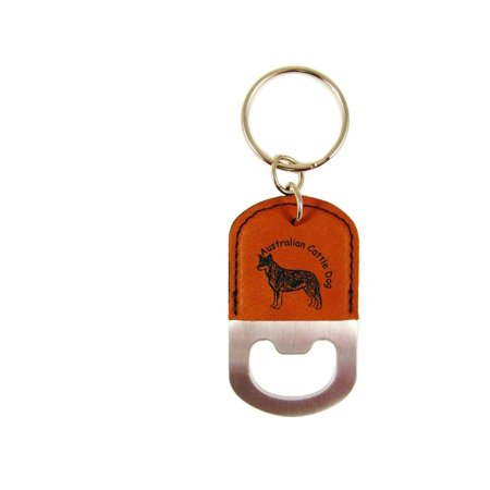 australian cattle dog standing 2 bottle opener key chain k1309. Black Bedroom Furniture Sets. Home Design Ideas
