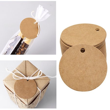 100PCS Blank Wedding Brown Kraft Paper Tag gifts papers Favor Gift Tags